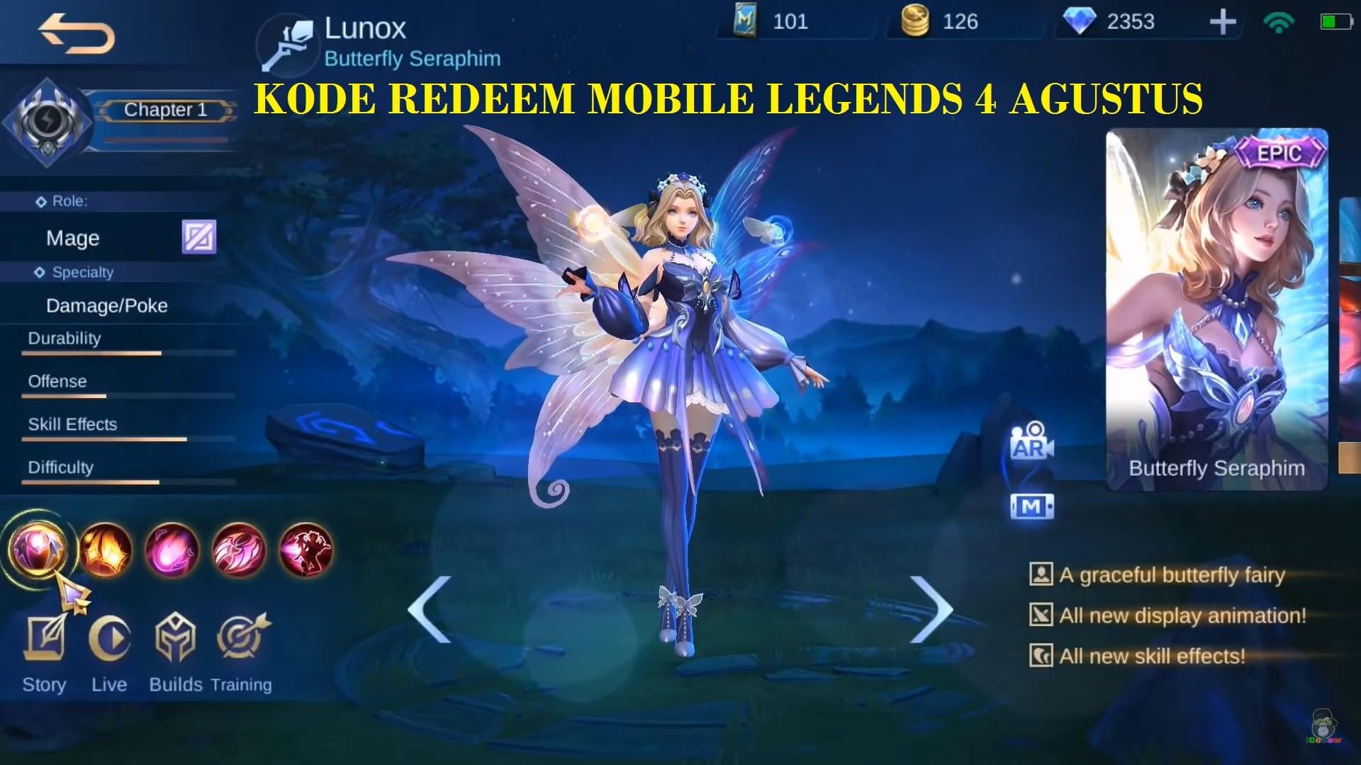Update Terbaru Kode ML 4 Agustus 2020, Hadiah Skin Epic ...