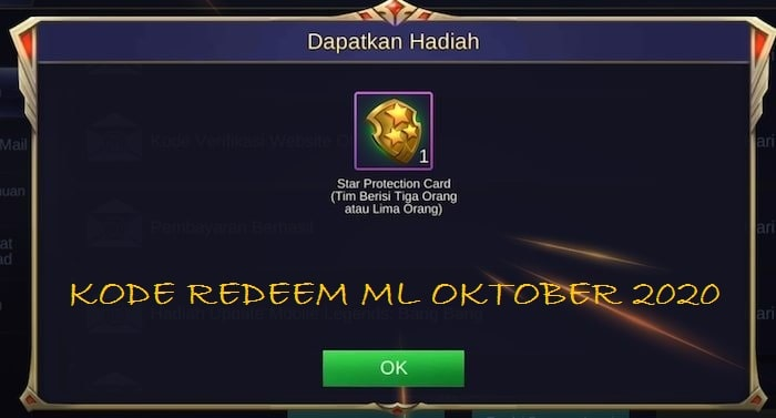 Update Kode Redeem ML Oktober 2020